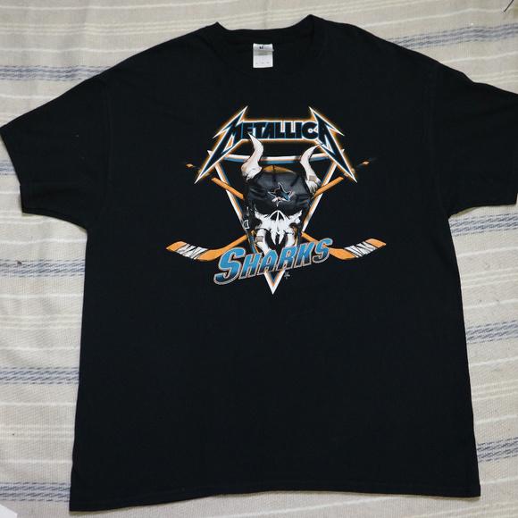 new product 9d962 38948 METALLICA x SAN JOSE SHARKS Tee T-shirt